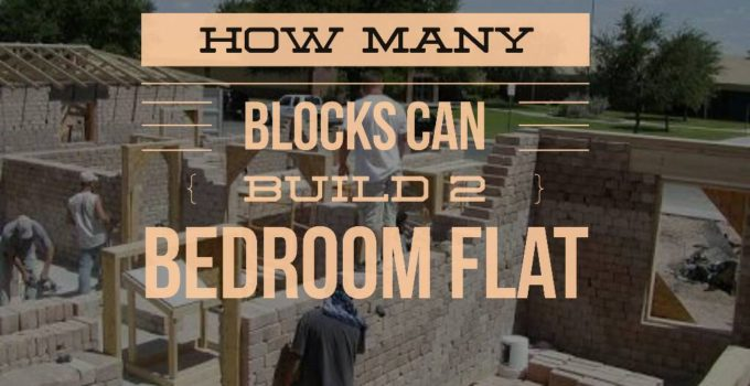 how many blocks can build 2 bedroom flat