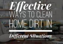 clean home dirt