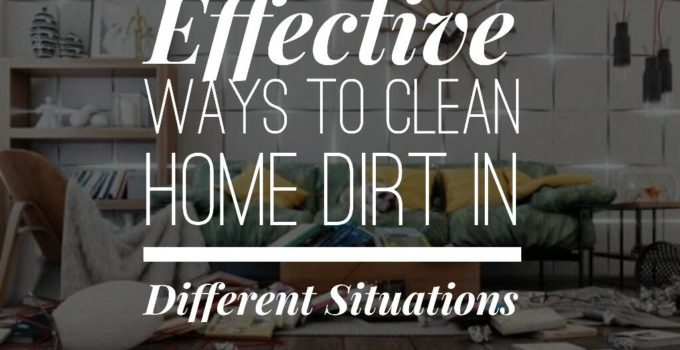 clean home dirt