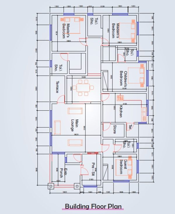 4 Bedroom Flat Bill Of Quantities (BOQ) Design