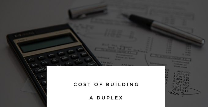 cost of building a duplex