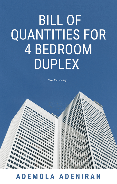 Bill Of Quantities for 4 bedroom duplex