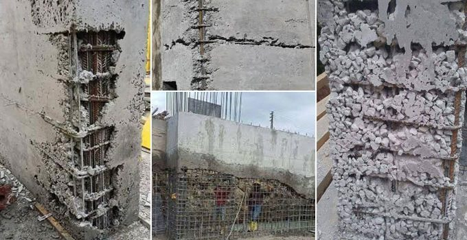 honeycomb in concrete 680x350 - Everything You Need To Know About Concrete Honeycombing